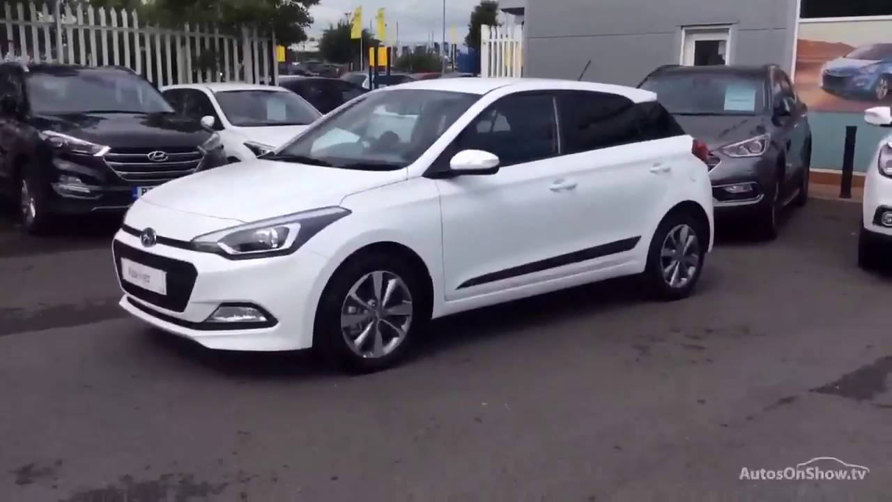 hyundai i20 crdi premium white 2016 youtube. Black Bedroom Furniture Sets. Home Design Ideas
