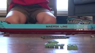 building the lego maersk cargo ship