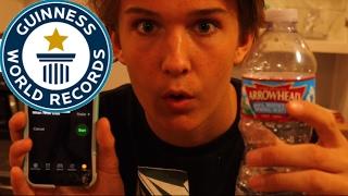 BREAKING JAKE PAUL'S WORLD RECORD!! || Most Water Bottle Flips in a Minute