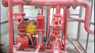 Fire Fighting - Pump Room with fire pump , Jockey Pump and Diesel Pump installation Details in hindi
