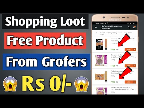 Grofers Free Items | Grofers se free me shopping kaise kare | Grofers Free Delivery Trick