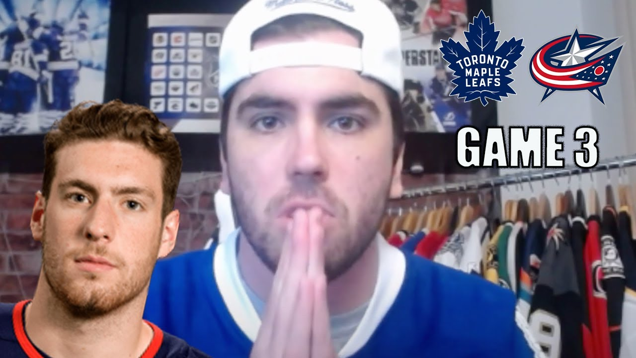 Leafs Fan Reaction to Game 3 (CHOKE) OT LOSS to the Blue Jackets (RANT)