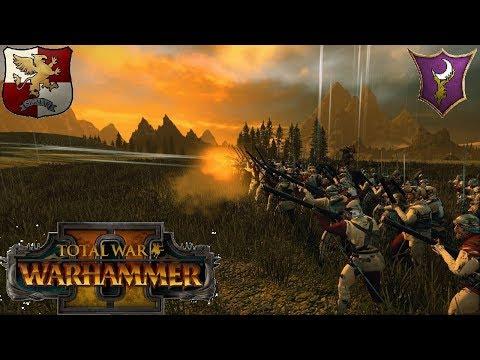 Handgunners! - Empire vs Dark Elves | Multiplayer Battle #163 | Total War Warhammer 2