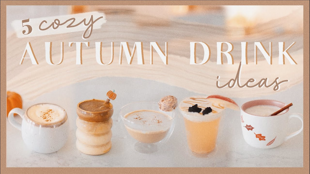 5 COZY FALL DRINK IDEAS | maple donut latte, caramel cider, pumpkin cream coffee, chai, & more!☕️🍂✨