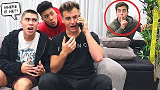 MISSING PRANK ON BROTHER.. (He Freaked Out)