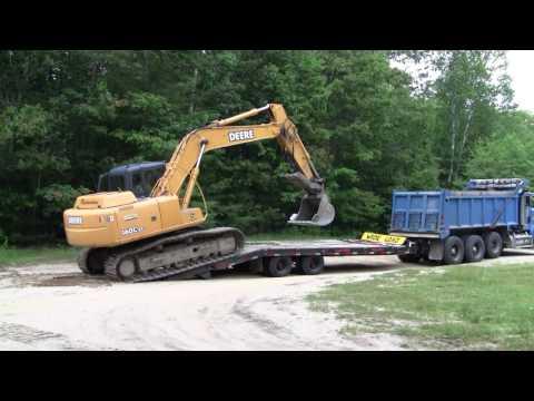 Richardson Excavating Deere 160CLC Getting Loaded Onto Trailer