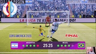 PES 2020 | GIANT ARGENTINA VS TINY BRAZIL | FINAL COPA AMERICA | Penalty Shootout | MESSI VS NEYMAR