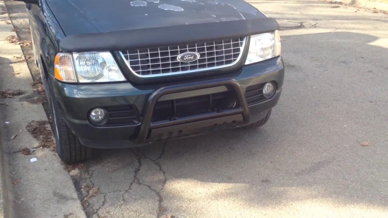Ford Explorer Bull Bar Installed Black