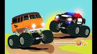 Монстр траки Полицейская машина Пожарная Все серии подряд Мультики про машинки для детей
