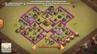 Vídeo 2 de clash of clans guerra contra Kings da Guerra