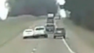 Road Rage Turns into Multi-vehicle Crash Caught On Camera | ABC News