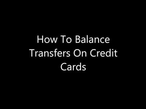A Trick to Balance Transfers On Credit Cards
