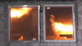 Испытание противопожарного окна Е60