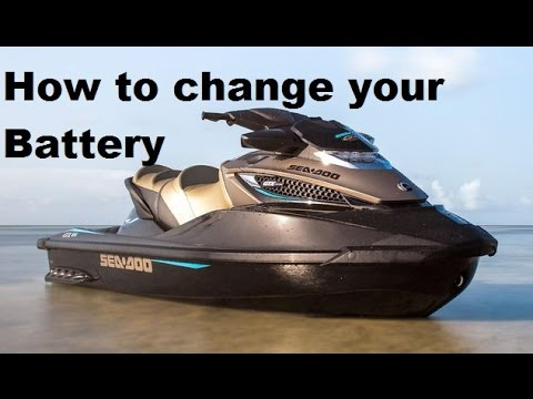 How to remove,replace,change your Seadoo GTX, RXT, & I S  models battery