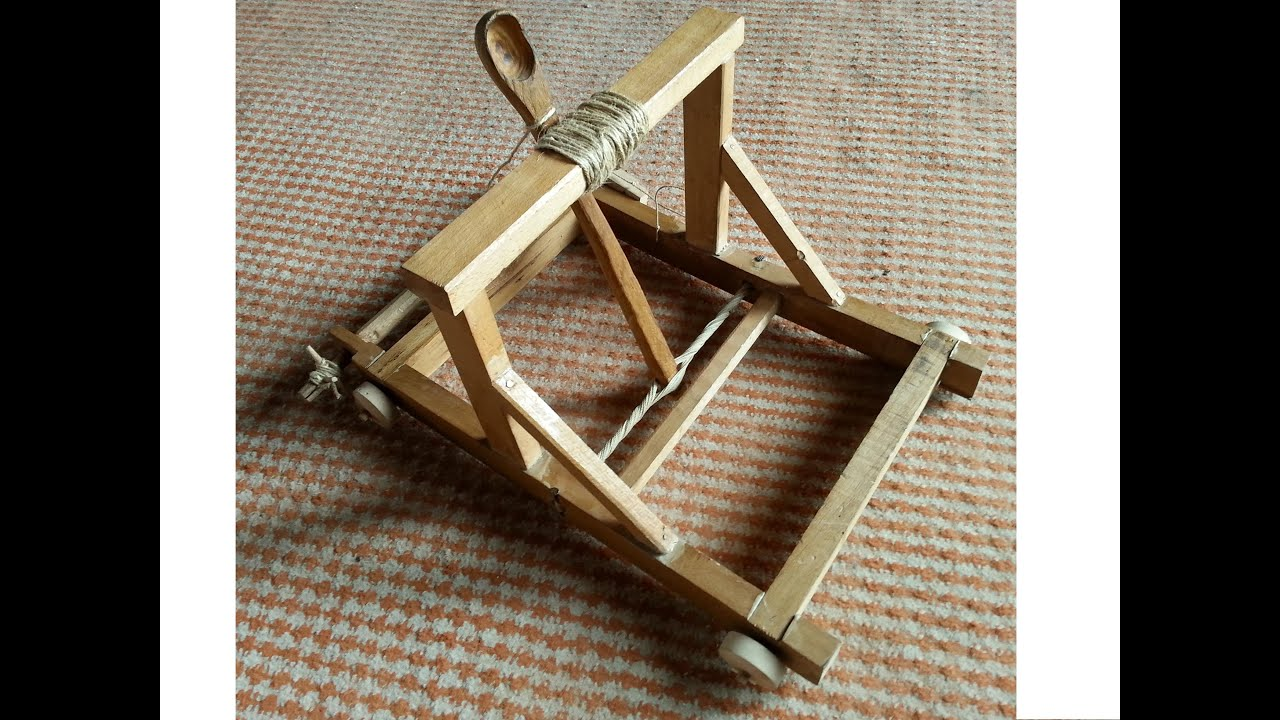 Small Scale Catapult Homemade Youtube