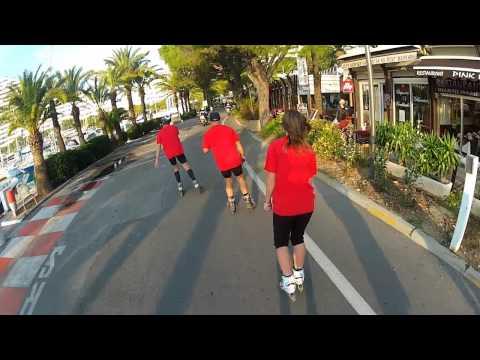 Marathon Nice-Cannes 2011 filmé par team roller avec une GoPro HERO 2 et Sony HDR