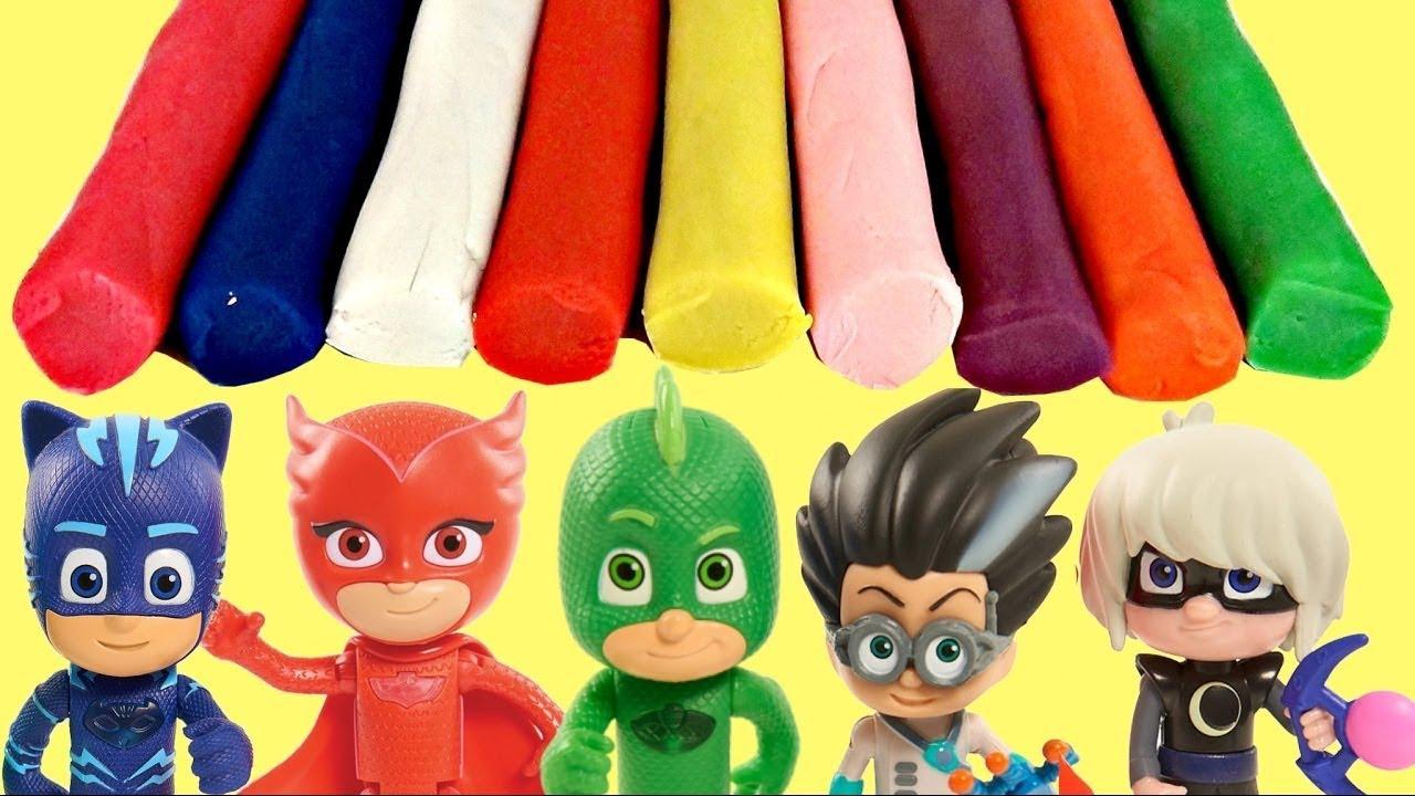 Download Heroes en Pijamas  PJ Masks con Moldes de Masilla Play doh