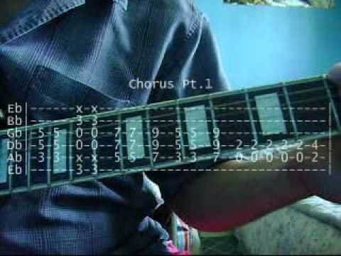 Guitar guitar tabs on screen : God of Thunder by Kiss Rhythm Guitar Lesson (with on-screen tab ...