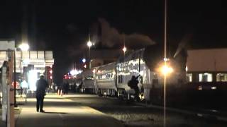 Amtrak 355 Station Stop at Battle Creek, MI - 3/20/2015