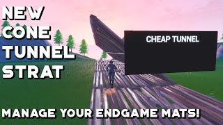 Fortnite: The Cheap Tunnel for Endgames (Great Mat Management!)