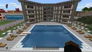 Minecraft şehir yapma  otel yapımı