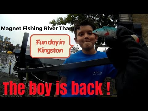 Magnet Fishing River Thames | Both sides of Kingston bridge, we also ring the number on the pet tag.