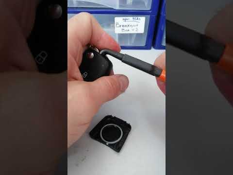 Фольксваген Тигуан как разобрать ключ зажигания.