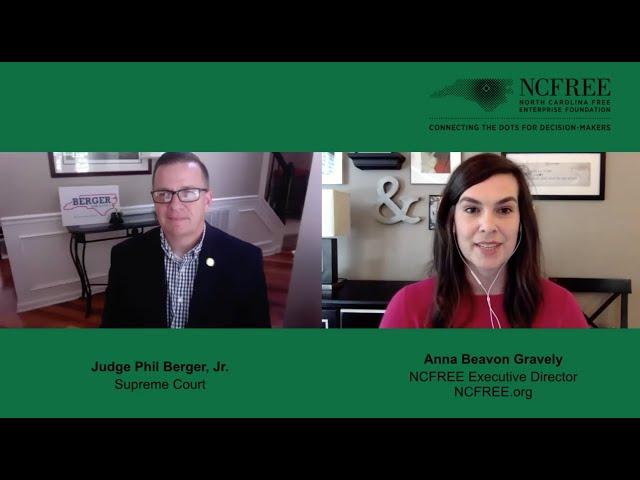 NCFREE Judicial Interview - Judge Phil Berger, Jr. - Supreme Court, Seat 02