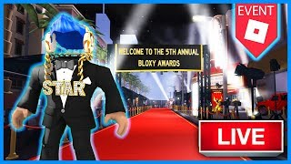🔴 *Breaking News* LIVE from the ROBLOX Bloxy Awards | 4k Robux seat! | Roblox Live Stream |