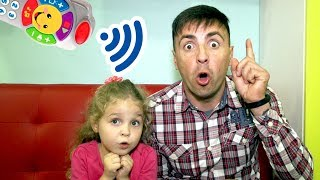 Nadia and Papa play with magical remote control Fun adventure