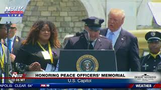 EMOTIONAL: President Trump Honors Fallen NYC Officer Miosotis Familia