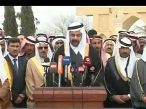 شيخ قبيلة شمر في العراق - YouTube