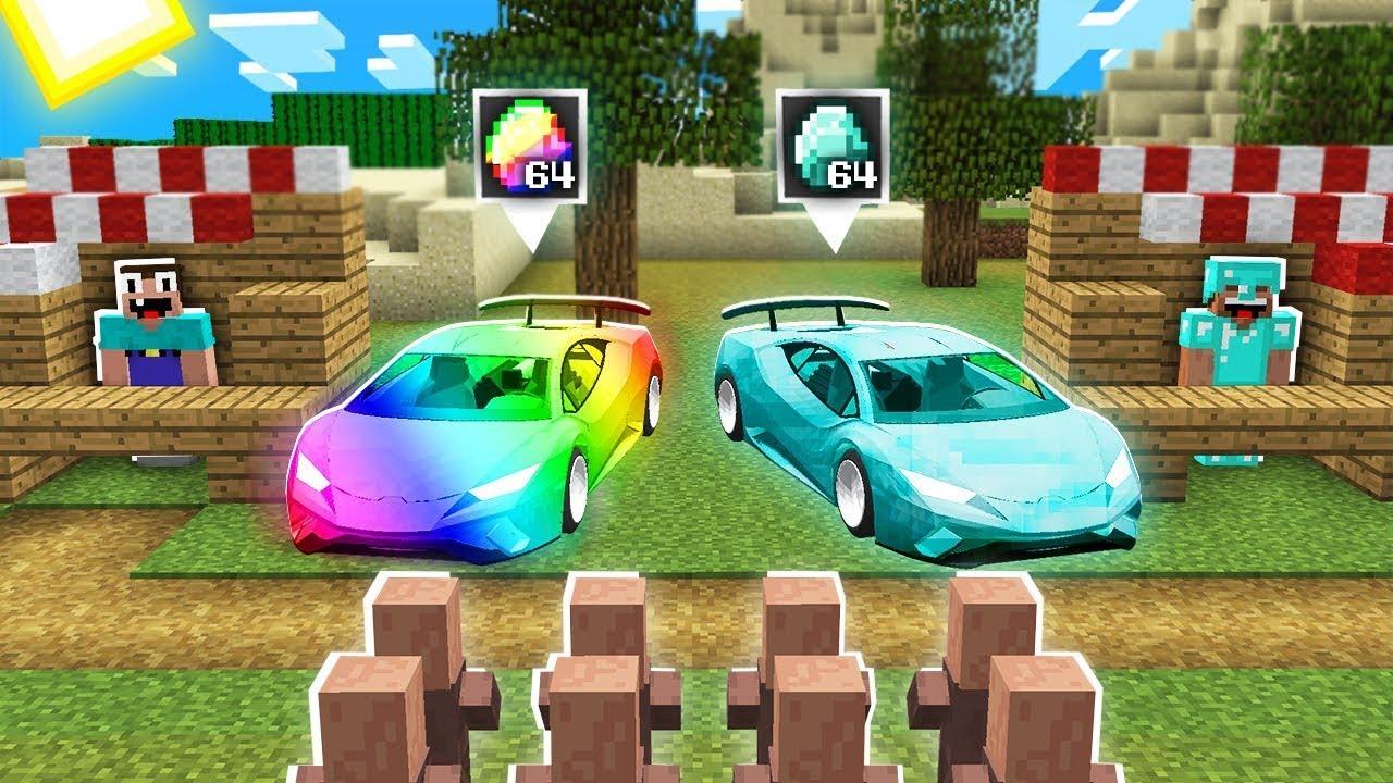 Minecraft NOOB vs PRO: HOW NOOB UPGRADED CAR SHOP IN SUPER PRO CAR SHOP! 100% trolling
