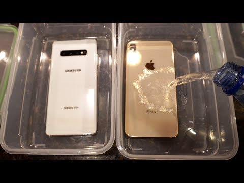 Samsung S10 Plus vs iPhone XS Max Sparkling Water FREEZE Test! What Will Happen?!