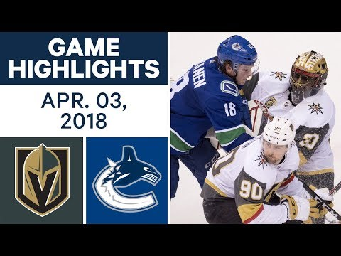 NHL Game Highlights | Golden Knights vs. Canucks - Apr. 03, 2018