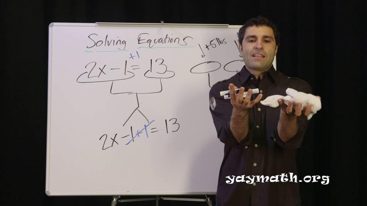 Algebra Solving Equations Youtube