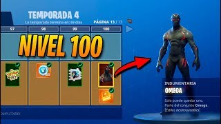 **TEMPORADA 4** SKIN NIVEL 100! TODO COMPRADO! FORTNITE: Battle Royale (Pase de Batalla)