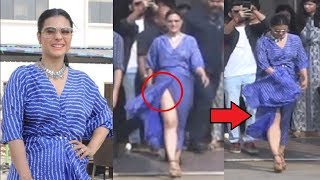 Kajol Dress FAIL During Helicopter Eela Movie Promotion