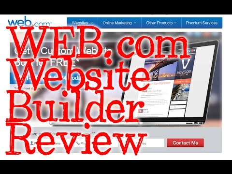 Web.com Website Builder - Do It Yourself - REVIEW and Walkth