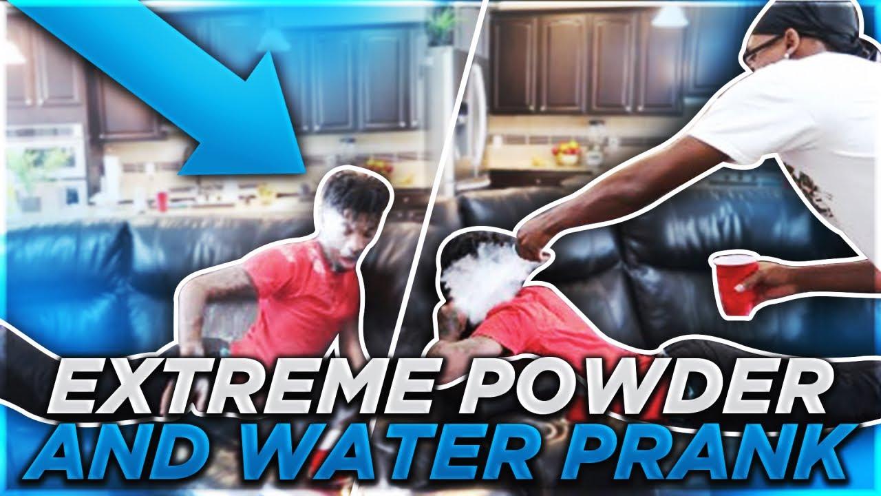 EXTREME POWDER AND WATER PRANK!