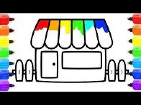 Coloriage Arc En Ciel De La Maison Et Dessin Avec Des Marqueurs De Couleur Youtube