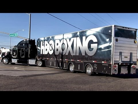 HBO BOXING TRUCK ~ NEP BROADCASTING SUPER SHOOTERS