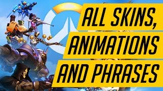 ALL OVERWATCH SKINS, EMOTES, POSES, VOICE LINES AND HIGHLIGHT INTROS