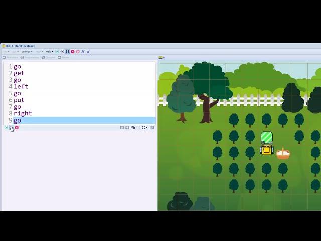 Karel Coding - Typing Commands
