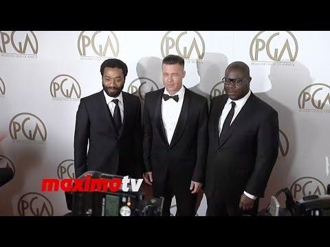 Brad Pitt, Chiwetel Ejiofor, Steve McQueen 2014 PGA Awards Red Carpet Arrivals