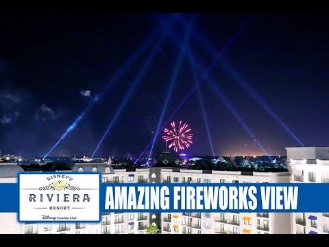 Walt Disney World Fireworks From Topolino's Terrace at Disney's Riviera Resort - Best Fireworks View