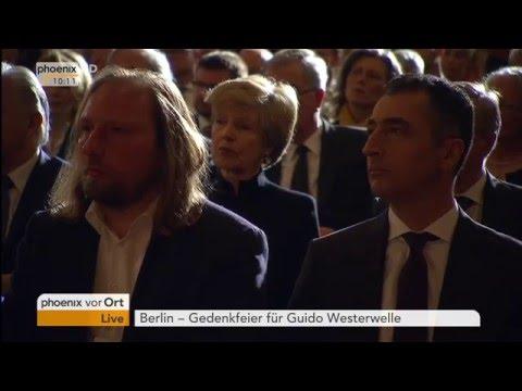 Gedenkfeier für Guido Westerwelle: Rede von Frank-Walter Steinmeier am 04.04.2016