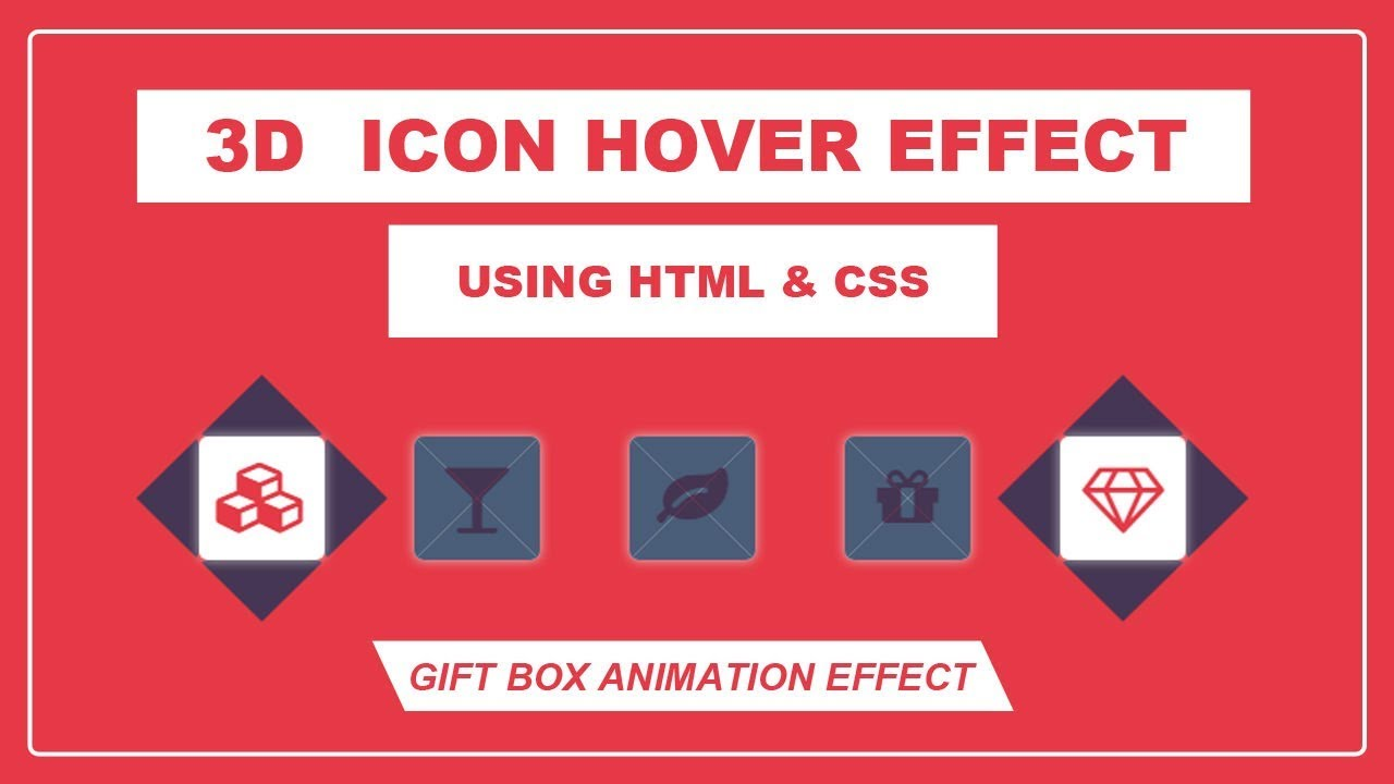 3D Icon Hover Effect - Icon hover Animation effect - CSS Icon hover effect  - transform-style