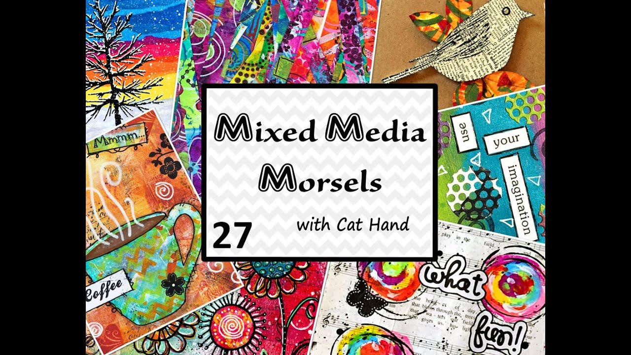 Cat Hand S Mixed Media Morsels