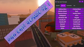 [ PAIN EXIST REMADE v2.1 ] ROBLOX JAILBREAK EXPLOIT - INFINITE NITRO, SPEEDHACK ,TELEPORT